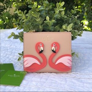 Kate Spade By the Pool Flamingo Wallet
